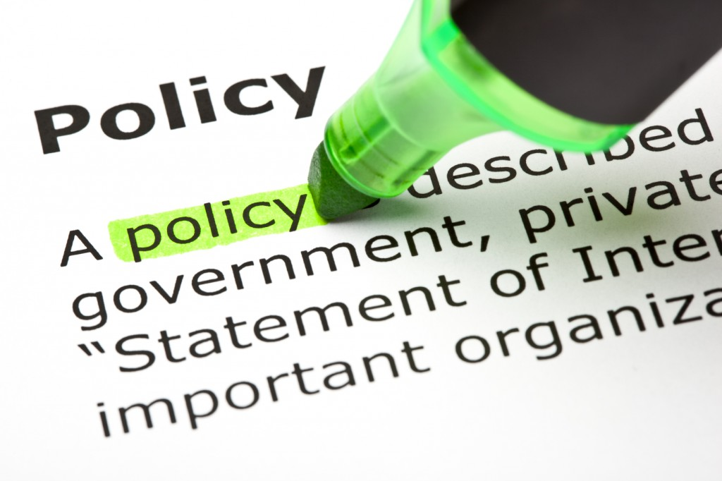 'Policy' highlighted in green